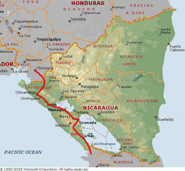 Nicaragua Map - Nicaragua map honduras
